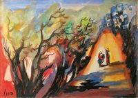 paysage oriental animé by isaac frenel