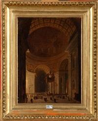 intérieur de la basilique saint-pierre animé by frans vervloet