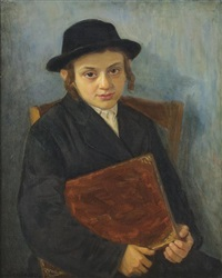 portrait of a jewish boy by lazar krestin