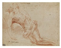 study of christ for a pietà (double-sided) by flaminio torre
