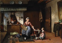 in the kitchen by sipke (cornelis) kool
