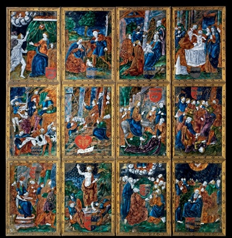 the life and passion of christ (triptych) by aeneid master
