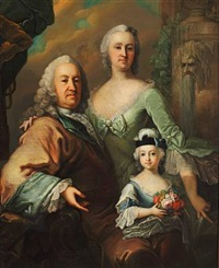 double portrait of a noble couple and their daughter by anonymous-danish (18)