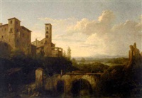 les restes d'un aqueduc by jules cesar denis van loo