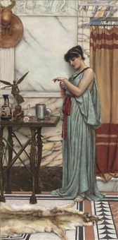 his birthday gift by john william godward