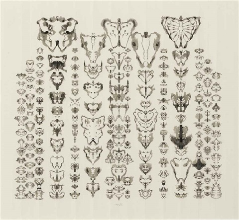inkblot drawing 112193 by bruce conner