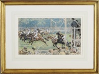 the start of the derby by gilbert holiday