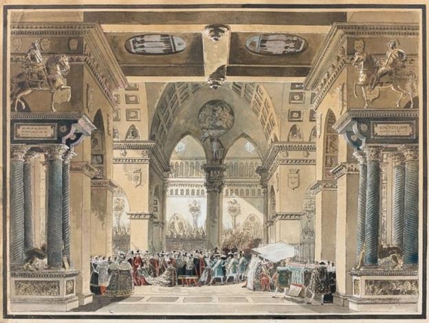 cérémonie religieuse à la cour de suède by louis jean desprez