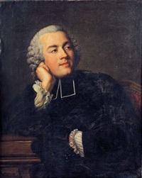 portrait présumé de l'abbé prévost by jacques andré joseph aved