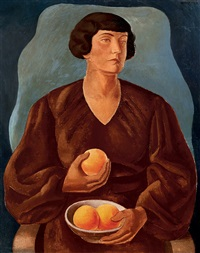 lady with oranges (macus with oranges) by jenö gábor
