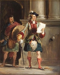 bonnie prince charlie at holyrood by william simson