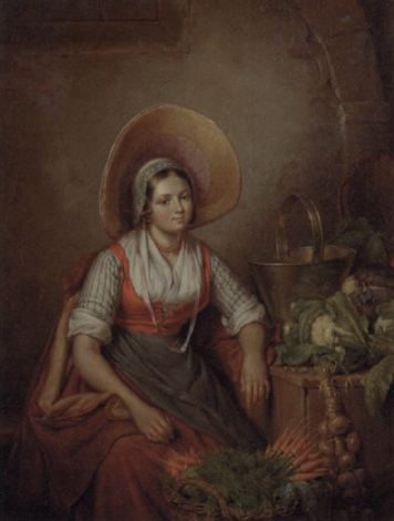 the vegetable seller by elisabeth alida van haanen
