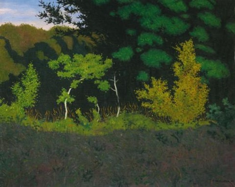 lisière de fôret edge of the wood by félix edouard vallotton