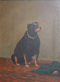 portrait of charley, a manchester terrier by henry w. henley
