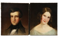 bust portraits of young man and woman (pair) by louis lang