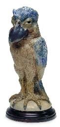 a glazed stoneware bird jar, 1898 by martin brothers