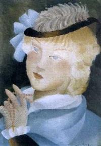jeune fille en bleu by alice hohermann