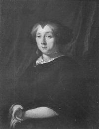 een portret van een dame by pieter van anraedt