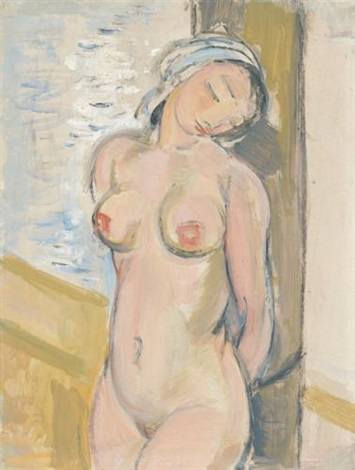 nue debout standing female nude by maurice barraud
