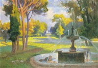 fuente en el parque by josé nogué massó