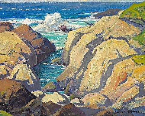 sea cliffs pebble beach no 3 by arthur hill gilbert