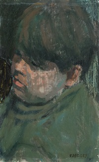 head of a boy by joan kathleen harding eardley