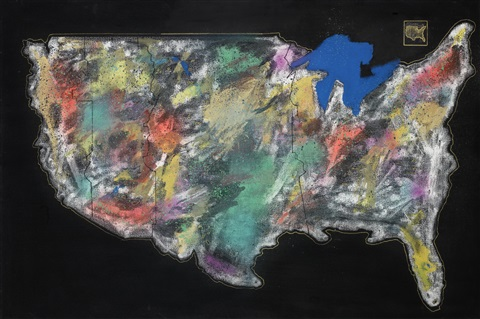 untitled (map) by futura 2000 (lenny mcgurr)