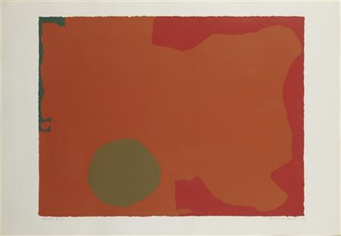 umber disc red edge by patrick heron