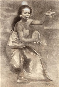 the balinese dancer kubil by emilio ambron