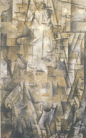 femme lisant by georges braque