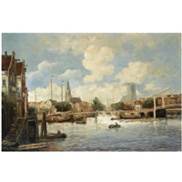 the harbour of dordrecht by hobbe smith