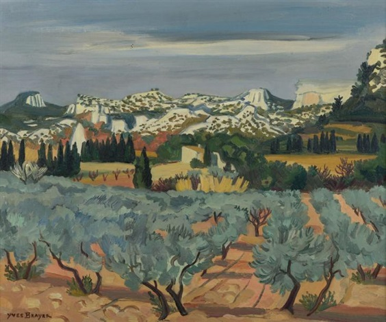 oliviers en provence by yves brayer