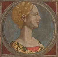 head of a lady by piero pollaiuolo