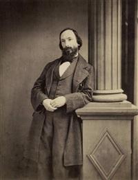 portrait d'auguste vacquerie by p.j. delbarre & cie