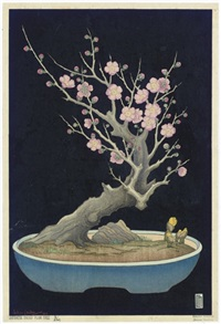 japanese dwarf plum tree a (+ 6 others; 7 works) by lilian may miller