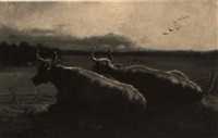 bulls resting by adolphe vogt