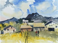 mountain town, b.c. by henry george glyde