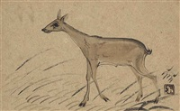 untitled (deer) by nandalal bose