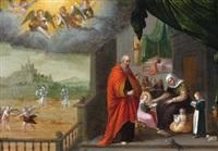 die heilige familie als schutzherrin einer klosterkirche by friedrich sustris