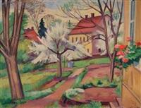 nachbarhaus i mit kirschbaum by karl kröner