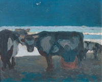 vacas en malvin by juan carlos figari castro