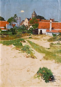 small town in the dunes by wilhelm bartsch