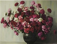 floral composition in a vase by elizabeth rouviere