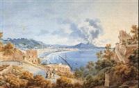 l'eruzione del vesuvio del 21 ottobre 1822 vista da sant'antonio a posillipo by simone pomardi
