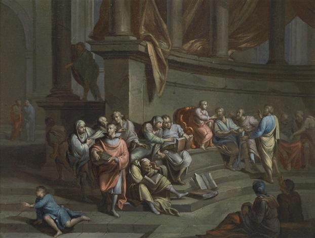 die schule von athen by gerard hoet the elder