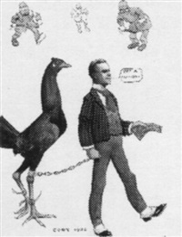 rich man escorting giant chicken, approached my policemen by fanny y. cory