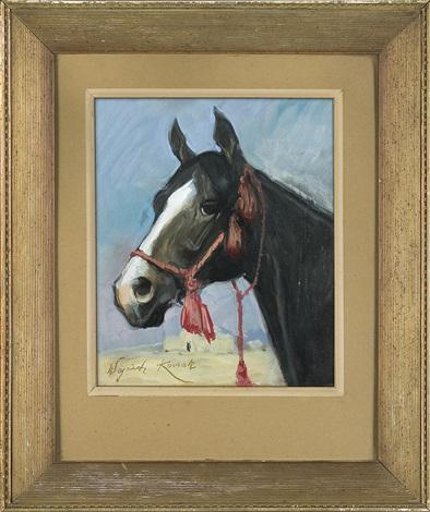 horse head by woiciech aldabert ritter von kossak