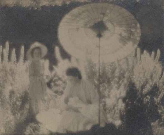 mrs steichen and the steichen children voulangis france by edward steichen