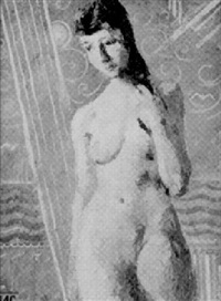 three quarter length nude by reginald robert tomlinson