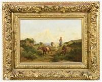 la bergère et son troupeau by clement (charles-henri) quinton